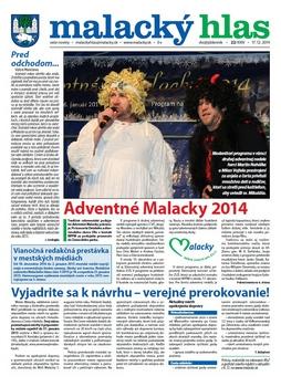 Malacký hlas č. 22/2014